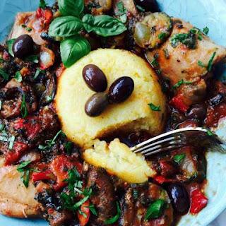 Mixed Grilled Veggies, Polenta and Chicken Casserole Recipe