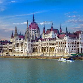 by Branislav Rupar - Buildings & Architecture Public & Historical ( member, hungary, building, budapest, europe, gothic, art, parliament, representative, politics, government, big, river )