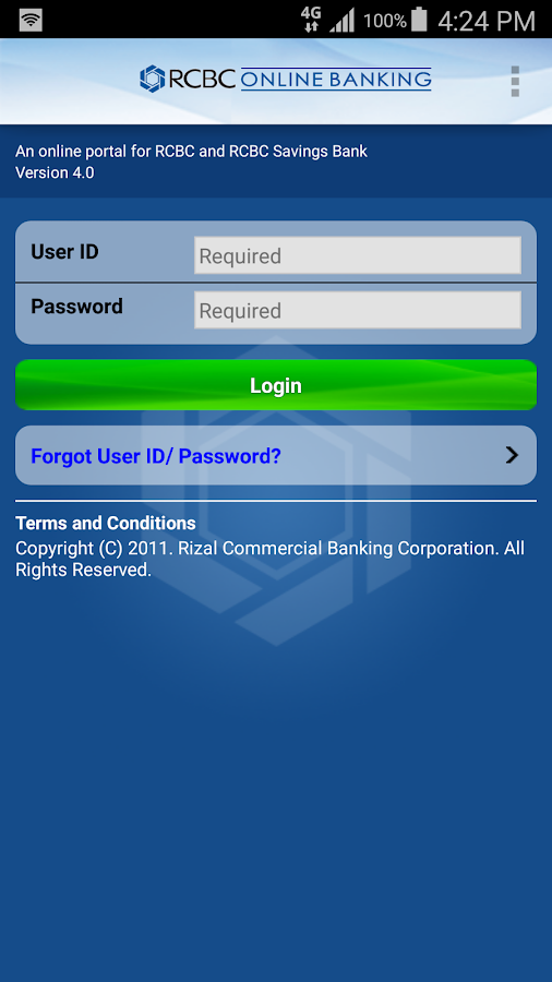 RCBC Online Banking- screenshot