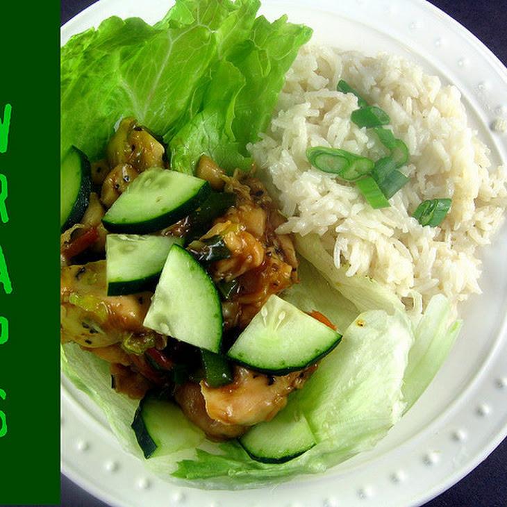 Thai-Glazed Chicken Lettuce Wraps