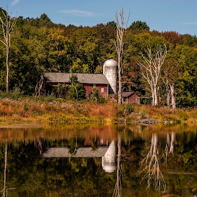 Abandon Barn Reflection by Diane Ljungquist - Buildings & Architecture Decaying & Abandoned (  )