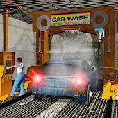 Smart Car Wash Service: Gas Station Car Parking