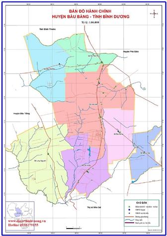 Bản đồ quy hoạch huyện Bàu Bàng và trung tâm xã Lai Uyên