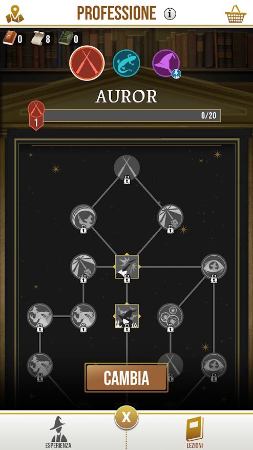 wizard unite professioni skills auror