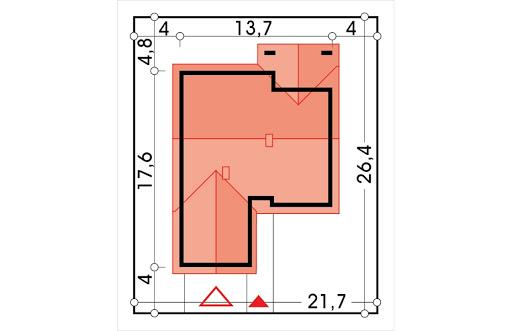 Ambrozja wersja C parterowa z podwójnym garażem - Sytuacja
