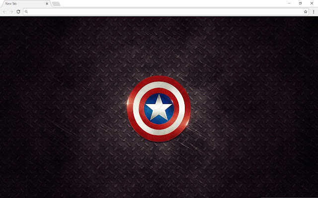 Captain America New Tab Page