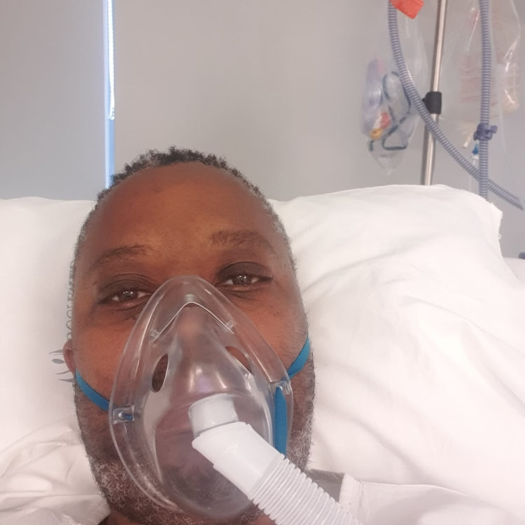 Muzi Mahlambi was on oxygen for 18 of his 23 days in hospital.