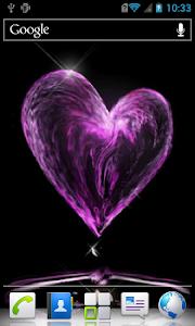 Water heart live wallpaper screenshot 2
