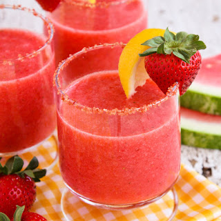 Frozen Strawberry Watermelon Lemonade