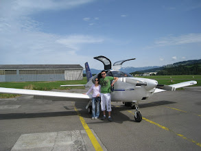 Photo: Posing in front of the plane http://www.swiss-flight.net