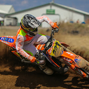 Digging In by Kenton Knutson - Sports & Fitness Motorsports ( roost, motocross, racing, moto, mx, dirt )