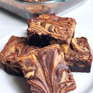 Peanut Butter Cheesecake Swirl Brownies.