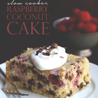 Slow Cooker Raspberry Coconut Cake