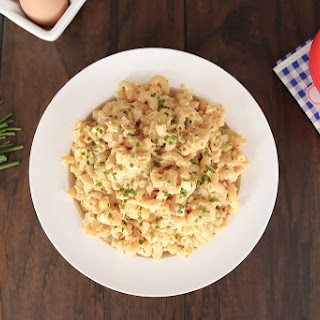 Ultimate Macaroni Salad – Amish style with eggs and cheese.