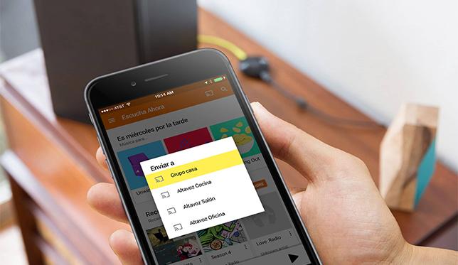 La aplicacion del Chromecast Audio permite la funcion de multihabitacion
