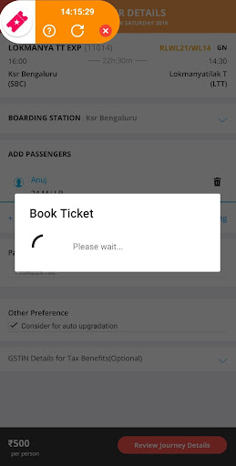 SuperTatkal - IRCTC Tatkal Train Ticket  screenshots 4