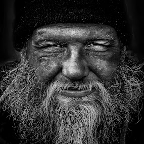 Homeless Jim by Sunny Zheng - People Portraits of Men