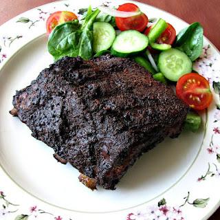 Mocha Rubbed Grilled Pork Ribs Recipe