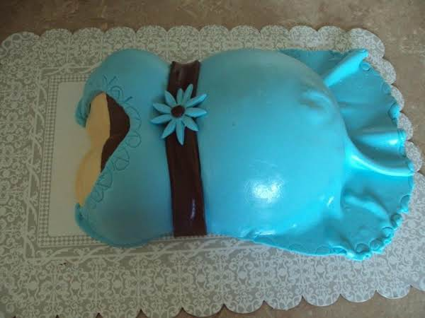 This Is A Bye Bye Belly Cake I Did For A Friend At A Baby Shower