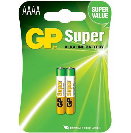 Batteri GP Super AAAA/LR61 2fp