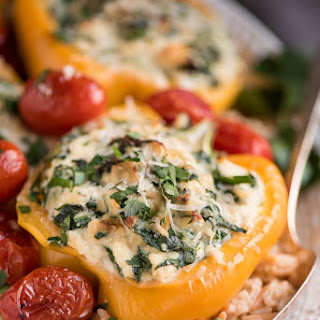 Ricotta Spinach Stuffed Peppers.