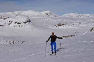 Photo: Hemsedalsfjellet mot hytta ved Eldrevatnet