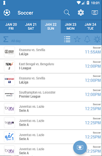 Live Sports TV Listings Guide Capture d'écran