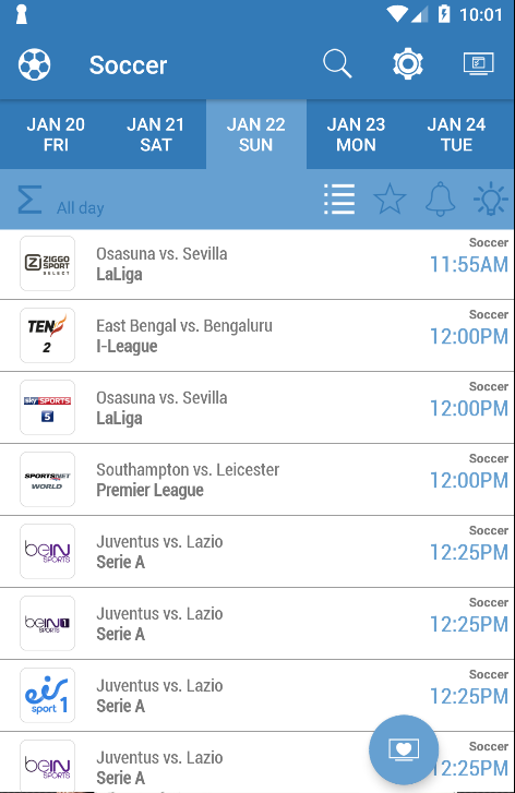 Live Sports TV Listings Guide- screenshot
