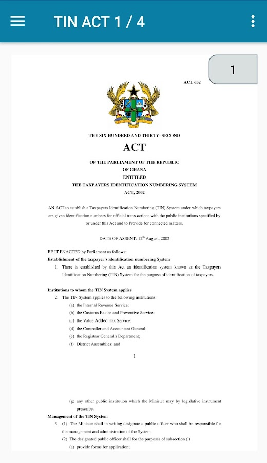 Ghana Tax ACTS- screenshot