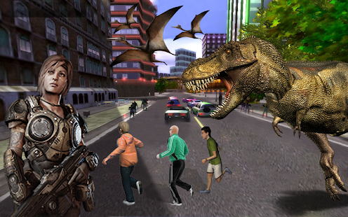 Download Dinosaur Hunting 2017: City Attack Survival Game For PC Windows and Mac apk screenshot 4