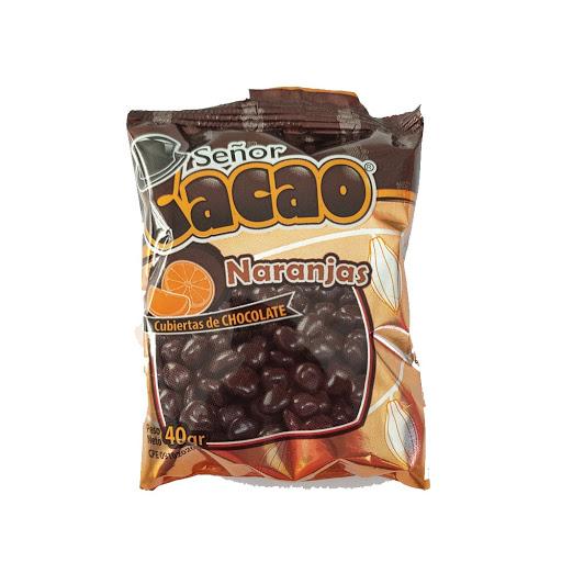 chocolate senor cacao naranjas cubiertas de chocolate 40gr
