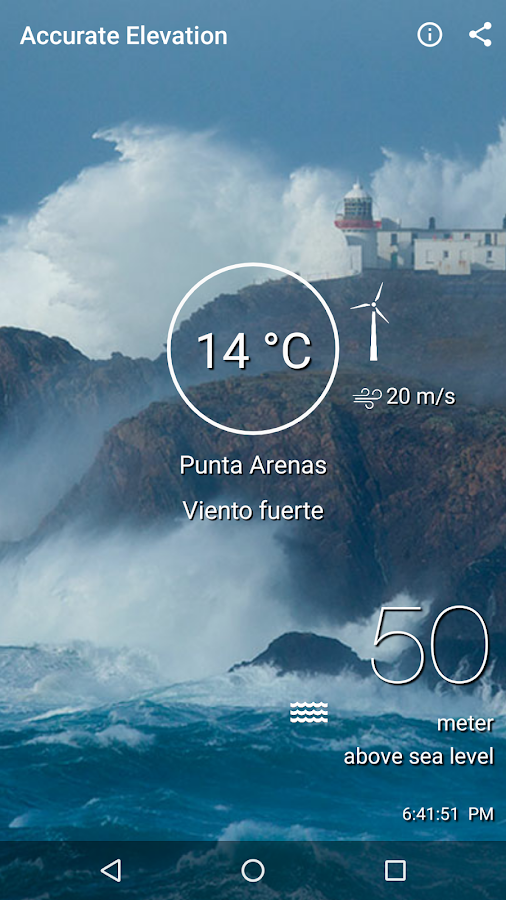 HyperLocal Weather By Current Elevation Android Apps On - What is my current elevation from sea level