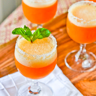 Peach Champagne Cocktails.