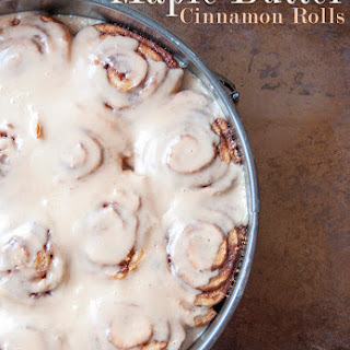 Maple Butter Cinnamon Rolls
