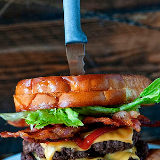 Grilled Cheese Double Bacon Cheeseburger.