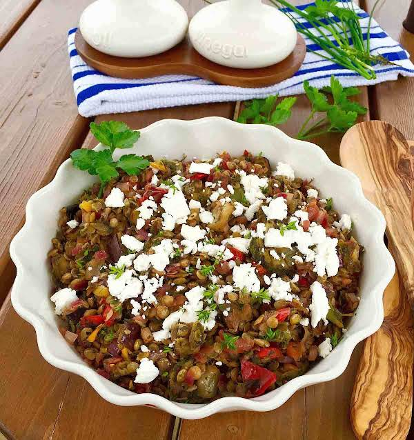 Green Lentil And Feta Cheese Salad Recipe