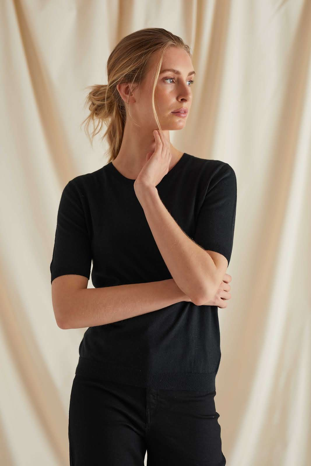 Fine Knit T-shirt Oversized