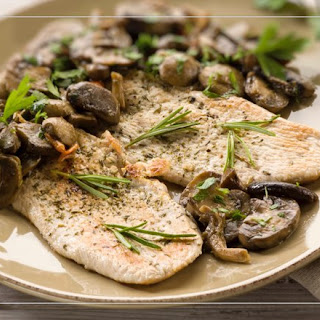Turkey Cutlets with Marsala and Shiitake Mushrooms.