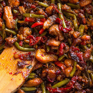Sweet Thai Chili Chicken and Green Beans Stir Fry.