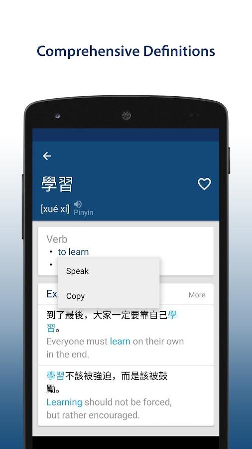 Chinese English Dictionary- screenshot