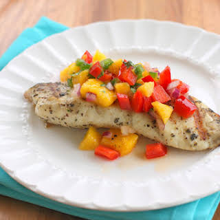 Grilled Tilapia with Mango Salsa.