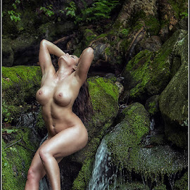 Tree's, Rock's, and Water by Magicc Imagery - Nudes & Boudoir Artistic Nude ( naturelovers, natural light, woman, naked, breasts, artistic nude, beauty in nature )