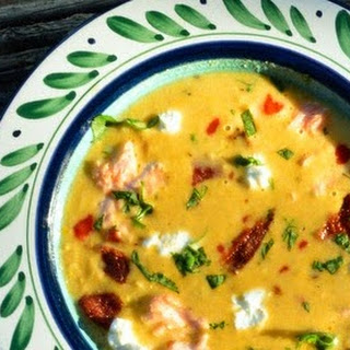 Corn and Green Chile Chowder.