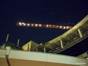 Photo: Rooftop crane and 'star light, star bright; first star I see tonight', overlooking the construction crane at The Heart Hospital at Baylor Regional Medical Center at Plano,Texas.