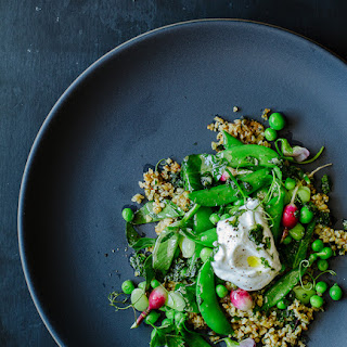 Cracked Freekeh Salad with Peas