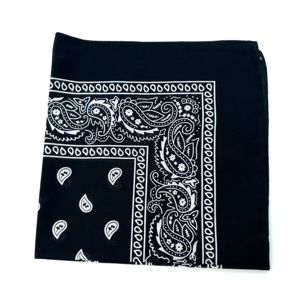Black Bandana (Wholesale) - Pack of 50