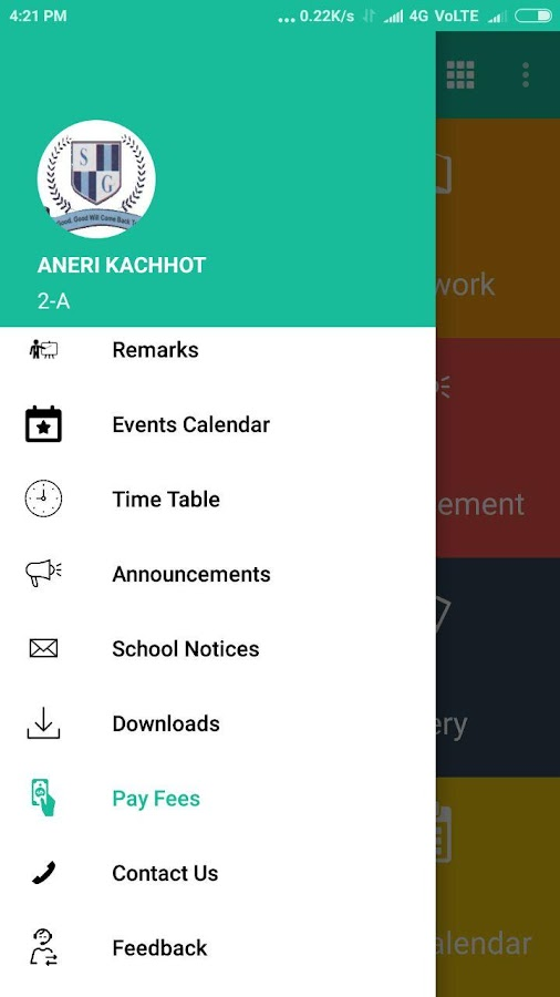 SG School (Parents App)- screenshot