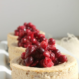 Spiced Cheesecake with Roasted Cranberries
