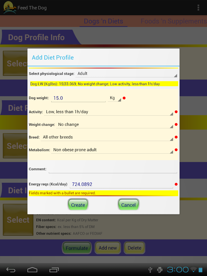 Feed The Dog Free (Dog Diet) - screenshot