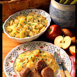 Meatballs with German Potato Salad.